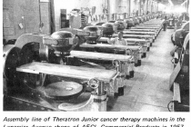 Assembly line of Theratrons