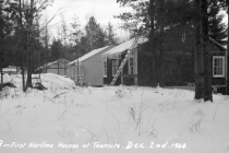 The first houses in Deep River.