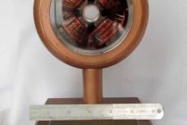 A drift-tube from the Alvarez accelerator