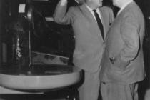 R.F. Errington with The Honourable Paul Martin, CPD, Ottawa (August 1957)