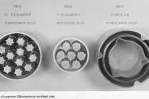 Types of uranium 235-aluminum enriched rods