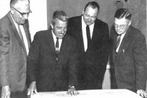 Four of the five founding members of the Nuclear Power Plant Division