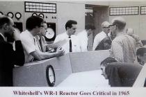 WR-1 staff at criticality